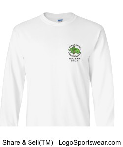 Adult Long Sleeve Shirt - White Design Zoom